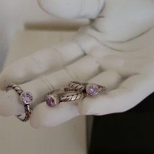 Lori Bonn .925 Sterling Stackable Rings